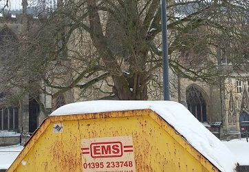 With weather forecast for snow you can rest assured EMS will still provide the same great service for Skip Hire in Exeter